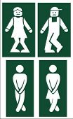 stock photo of female toilet  - toilet signs  - JPG