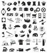 a set of various vector design elements in black and white