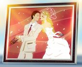 humorous wedding picture in a frame