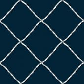 Seamless Nautical Rope Pattern. Endless Navy Illustration With Light Cords Ornament. Marine Fishing  poster