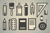 a set of drawing icons