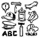 conjunto de elementos de hip-hop
