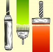 Paint accessories. Hand-drawn vector illustration.