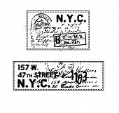 stamp label