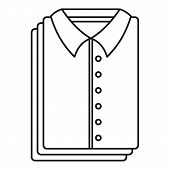 Clean Shirts Icon. Outline Illustration Of Clean Shirts Vector Icon For Web Design Isolated On White poster