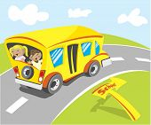 Yellow school bus 'Illustration' check my portfolio for Vector version