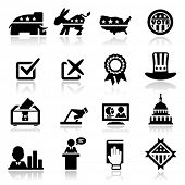 stock photo of poll  - Icons set Election - JPG