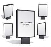 Set of blank outdoor billboards for designers.