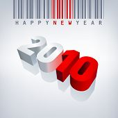 2010 vector greeting card. Editable.