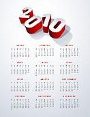 2010 spanish calendar in US letter. Vector. No mesh