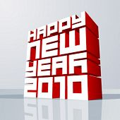 Vector New year 2010. Editable. No mesh.