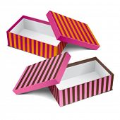 Two colorful design empty boxes. Editable vector.