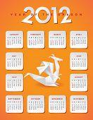 Year 2012 calendar