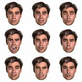 9 (Nine) Emotions With One Face