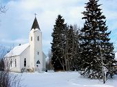 Country Winter Church