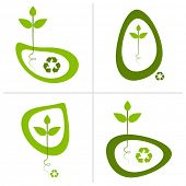 grüne Recycling-Logo-Designs.