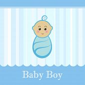 Cute baby boy blue card.