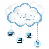 pic of workstation  - Cloud computing concept - JPG