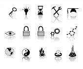 Black Over White Miscillaneous Icons