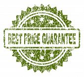 Best Price Guarantee Stamp Seal Watermark With Rubber Print Style. Green Vector Rubber Print Of Best poster