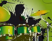 green drummer