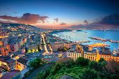 Naples, Italy. Aerial Cityscape Image Of Naples, Campania, Italy During Sunrise. poster