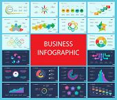 Business Presentation Slide Template Design Set Can Be Used For Workflow Layout, Annual Report, Web  poster