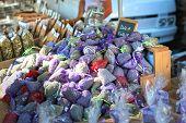 Organza Bag, Sachets Of Lavender Seeds, Natural Flavor For Home. Street Fair. Provence, France poster