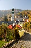 picture of banska  - Autumn in town Banska Stiavnica - JPG