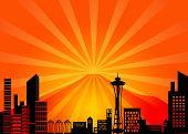 Постер, плакат: Сиэтл Вашингтон город