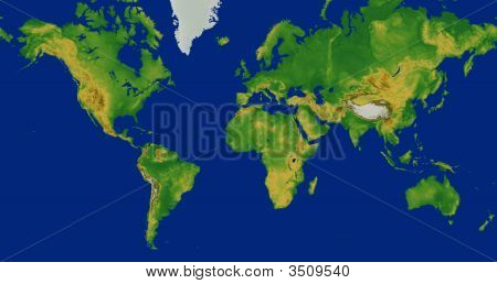 World Map Mercator Projection Poster Id 3509540
