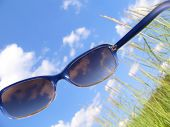 Solar Glasses And Sky
