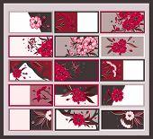 Floral Calling Cards Set