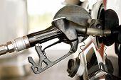 Filling Up Gas At Fuel Pump
