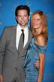 LOS ANGELES - JUN 17:  Michael Muhney, Michelle Stafford arriving at the 38th Annual Daytime Creative Arts & Entertainment Emmy Awards at Westin Bonaventure Hotel on June 17, 2011 in Los Angeles, CA