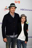 LOS ANGELES - AUG 1:  Max Burkholder, Dax Shepard arriving at the NBC TCA Summer 2011 All Star Party