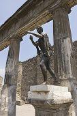 Statue Of Mercury In Pompeii