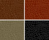 Seamless pattern of crocodile textured leather