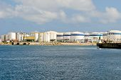 foto of lng  - LNG Tanks at the Port of Barcelona - JPG