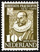 Postage stamp Netherlands 1950 Janus Dousa, Lord of Noordwyck