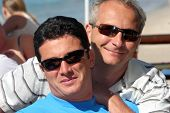 pic of gay couple  - happy men couple on a sunny day - JPG