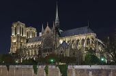 Notre Dame Of Paris At Night