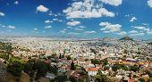 Panorama de Atenas megalópole do Acropolis Hill, Grécia