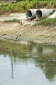 Dirty Drain Polluting A River