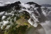 Morning mist over Macchu Piccu