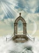 picture of stairway to heaven  - Fantastic arch with stairway in the sea - JPG