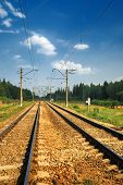 Steel Railroad Tracks