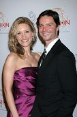 LOS ANGELES - APR 9:  KaDee Strickland, Jason Behr arriving at the 32nd Annual College Television Aw
