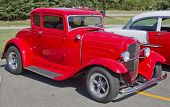 Old Red Ford Hot Rod
