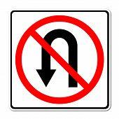 No Return Back Road Sign